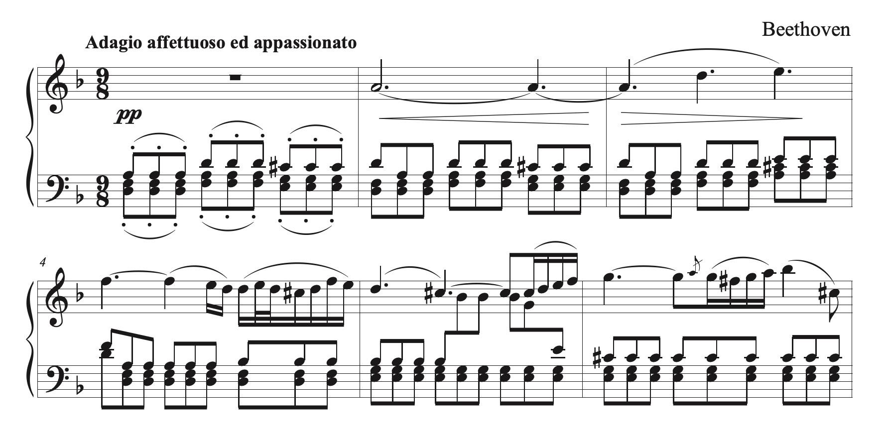 Beethoven op.18 no.1 Adagio